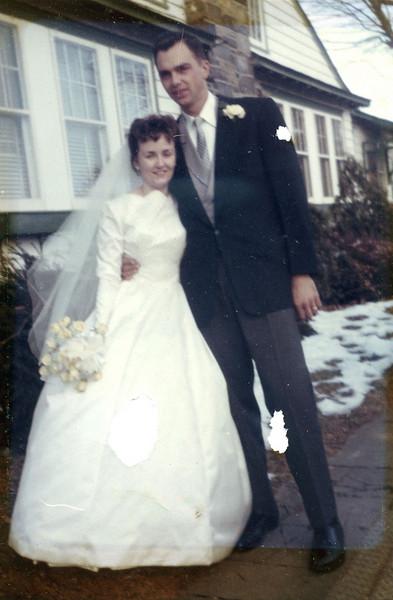Veronica Kuck and John Szymanski wedding day, December 30, 1961.