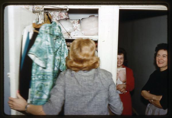 1962 611 Spruce Street, Trenton, NJ LEFT to RIGHT - Ann (Angie) Szymanski in her bedroom, Veronica (Kuck) Szymanski and Lottie (Krulikowski) Szymanski.