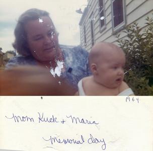 May 30, 1964 (Memorial Day) 224 Hazel Avenue, Trenton, NJ Mary Alice (Keating) Kuck with Maria Jean (Szymanski) Mens.