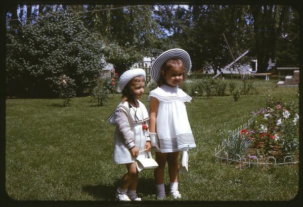 Easter 1967 at Ray Street, Maria and Susan