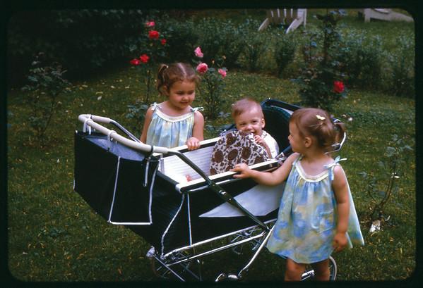 Summer 1966 at Ray Street, Susan, Jon Jay and Maria.