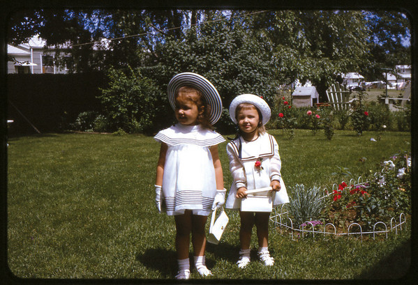 Easter 1966, Ray Street, Susan and Maria.