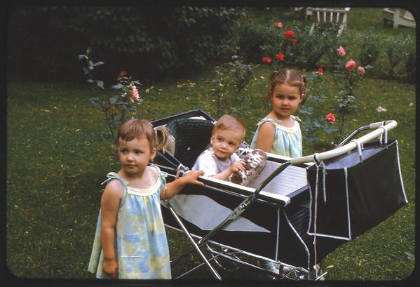 Summer 1966 at Ray Street, Susan Jon Jay and Maria.