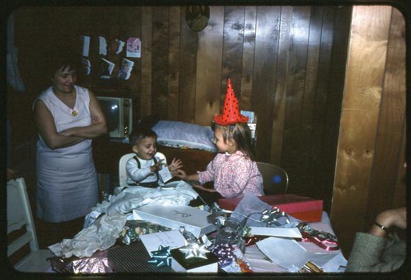 January 30, 1967 21 Ray Street, Trenton, NJ LEFT TO RIGHT - Veronica (Kuck) Szymanski, Jon Jay Szymanski and Maria Jean (Szymanski) Mens.