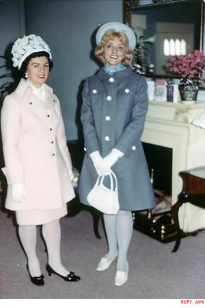 "April 6, 1969 611 Spruce Street, Trenton, NJ Lottie (Krulikowski) Szymansk and Ann ""Angie"" Szymanski."