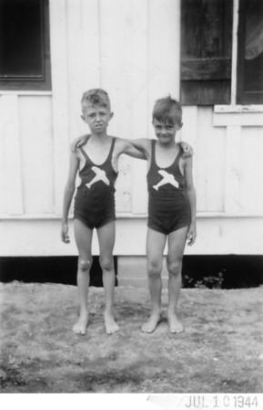 1944 Probably Seaside Heights, NJ Cousins, Arthur Kusek and John Joseph Szymanski, Jr.