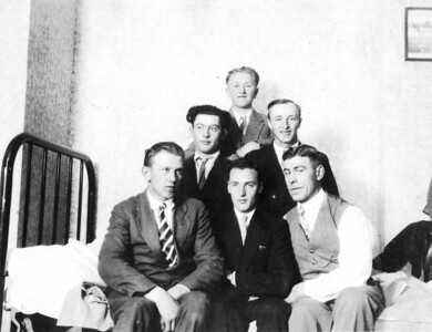 Undated, About 1928 BACK ROW - Henry Kuck. MIDDLE ROW, FAR RIGHT - Martin Kuck.
