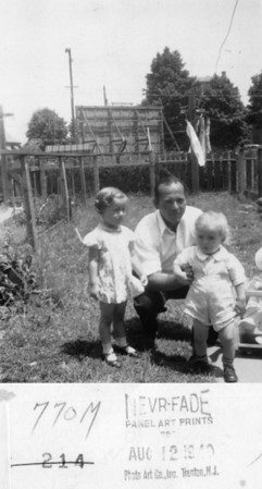 """1940 Veronica Ellen (Kuck) Szymanski, Louis """"Bill"""" Keating and John Henry Kuck."""