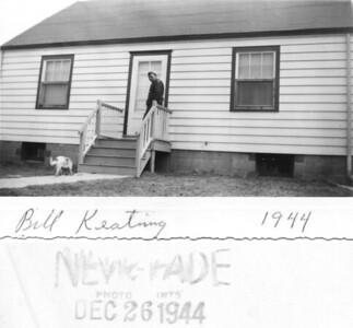 1944 Louis A. (Bill) Keating at the home of Mary & Henry Kuck, Hazel Avenue, Trenton, NJ.