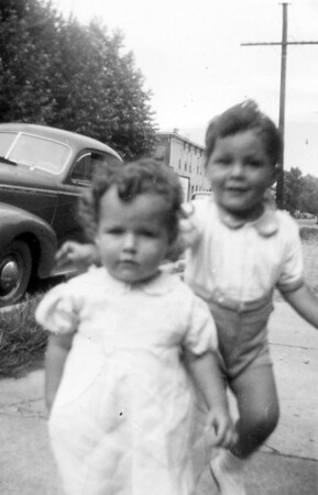 September 13, 1944 (photo development date) Anita (Taylor) Platek and Thomas Taylor, children of Margaret Ruth (Keating) (Taylor) Kuck.