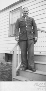 May or April 1944 Louis A. (Bill) Keating at the home of Mary & Henry Kuck, Hazel Avenue, Trenton, NJ.