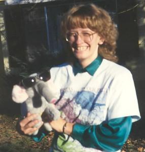 1990 Ellen and cool elephant