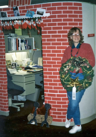 1992 Ellen's work cubicle and prize