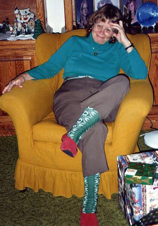 1990 Mom xmas socks