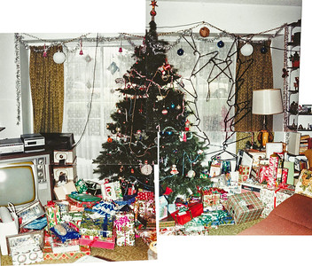 1984 Tree and Gifts, wider view