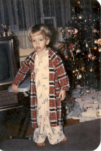 1958 tree, gifts, Ellen in Plainview