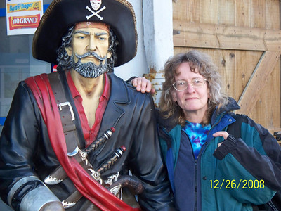 Ellen and a pirate friend