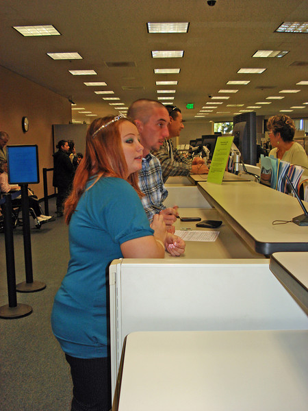 At the government center in Ventura County obtaining the marriage license. 20 minutes later they were married. This process is much streamlined compared to 25 years ago when Nancy and I were married.