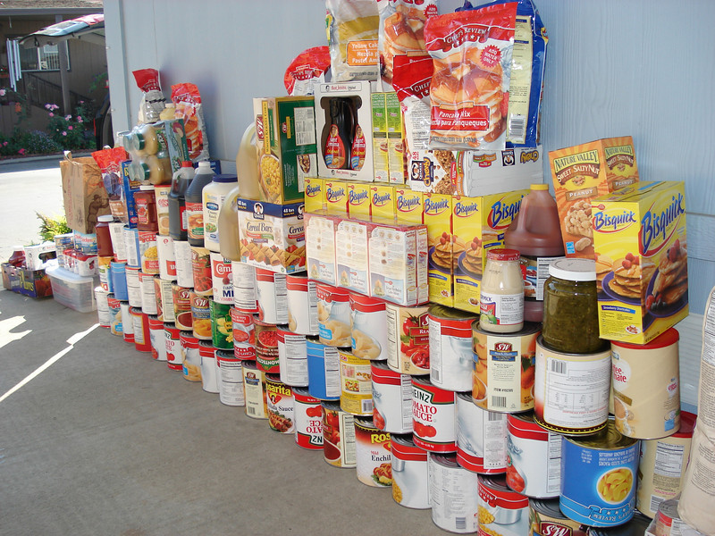 This is about 50% of the food donated for Rancho Sordo Mudo. The cans are two deep against the wall. Rancho Sordo Mudo has about 35 children plus teaching, administrative, and maintenance staff totaling close to 50 people on site. They consume about 150 meals a day. The amount of food in the store room and refrigerator room dropped to its lowest level in 35 years. EV Free came through and replenished stores sufficient to carry the facility for a month or more.