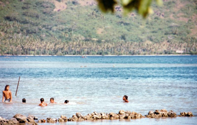 Bora Bora. Not a bad life for a bunch of boys.