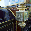 The brass accents on this car were completely restored, bright, and shiny.