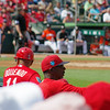 Jose Oquendo and Willie McGee