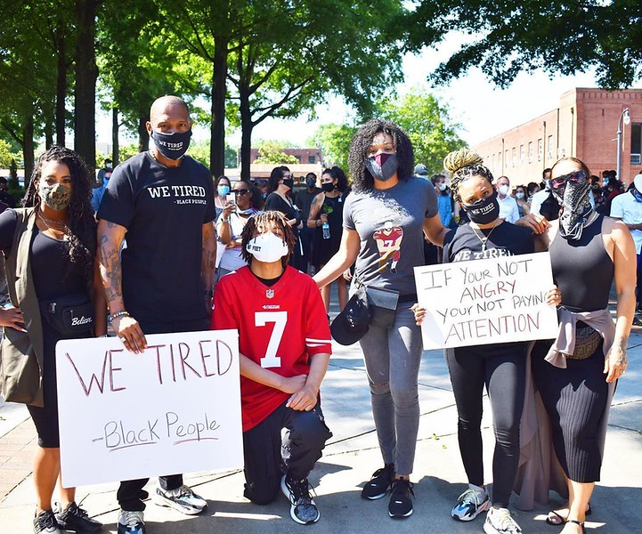 Chonta, Montana, Daekwon, Demetria McKinney, Rhonda Saunders and J Georgia's Peaceful Protest - June 4, 2020