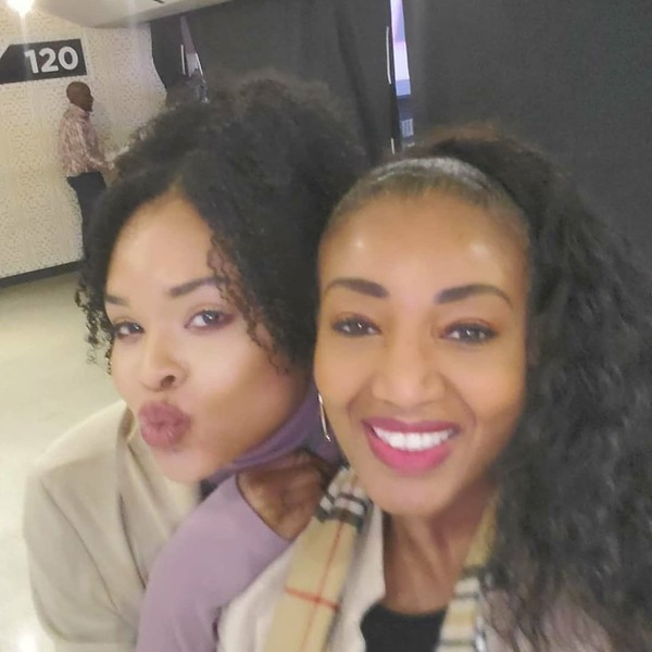 Demetria McKinney and Auta at the Lit AF Comedy Show - March 7, 2020