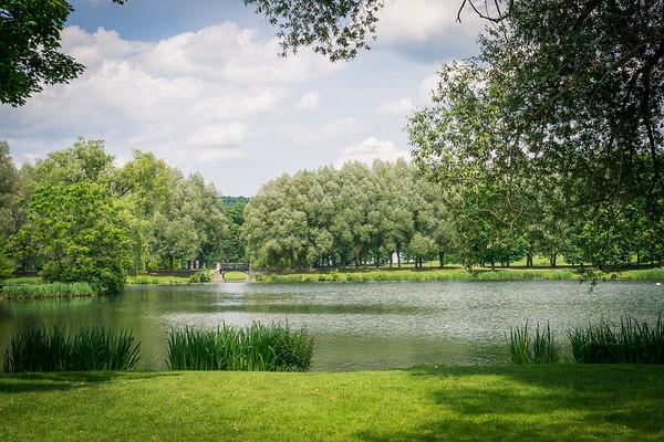 Colgate pond and bridge