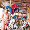 Happy days on the carousel
