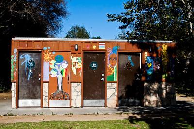 Isla Vista public restrooms.