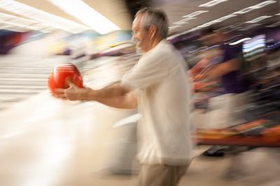 Artistic bowling shot.