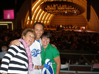 Mom, Andy, Karen & The Rally Monkey at the Bowl!