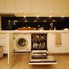 unpacking - washing machine in the kitchen (!?) and dishwasher
