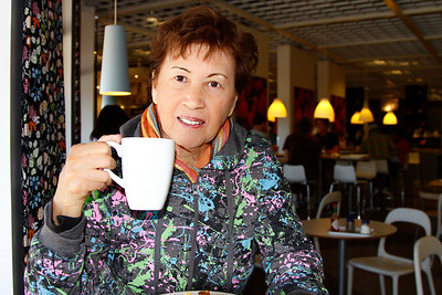 At the cafe at Ikea