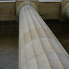 Soaring columns at the Lincoln Memorial.