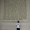 Keith and The Gettysburg Address at The Lincoln Memorial.