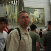 Waiting in line to see the Declaration of Independence.