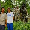 Neal & Keith at Vietnam Veterans statue.