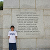 Keith at the WWII memorial.