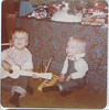 'Lots of instruments for Christmas  Mike is playing the 'ding-ding' (doug's phrase) 1976'