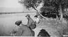 walt, clarence and girl fishing