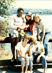 1985 a trip to Palmyra, clockwise from top: Freda Achea, Vickie Colton, Kris Bevan, Becky Hawes, Anita Fee