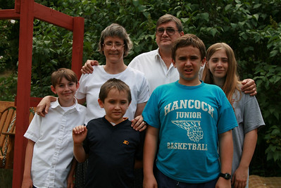 Divelbiss family and Matthew Summers (left)
