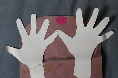 Heidi's traced and cut out hands