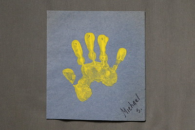 michael toddler hand print