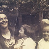 Lena Bongiovanni- Bosca (Boscoe) with son Jim and daughter Sylvia, about 1920