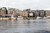 Oslo's cafe culture alongside the harbour.