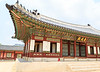Beautiful curved roof adorned with tiny protectors at Gyeongbokgung Palace