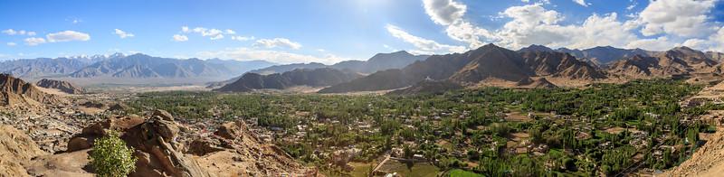 View over Leh towards Shanti Stupa